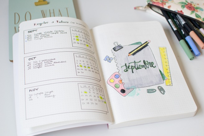 interior bullet journal